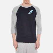 Billionaire Boys Club Men's Raglan T-Shirt - Navy/Grey Heather