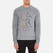 Carven Men's Dot To Dot Print Sweatshirt - Gris Chine