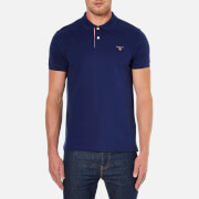 GANT Men's Contrast Collar Pique Polo Shirt - Persian Blue