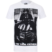 T-Shirt Homme Star Wars Vador Père Photo - Blanc