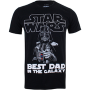 T-Shirt Star Wars Dark Vador Best Dad - Noir