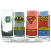 Set de 4 verres Justice League
