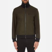 HUGO Men's Belvor Bomber Jacket - Khaki