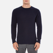 YMC Men's Suedehead Brushed Jumper - Navy