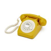 GPO Retro 746 Rotary Dial Telephone - Mustard