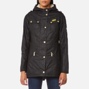 Barbour International Women's Flywheel Parka Coat - Black/Natural