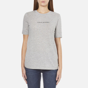 Cheap Monday Women's Break T-Shirt with Placed Text - Grey Melange