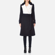 Diane von Furstenberg Women's Kayden Coat - Midnight/Canvas