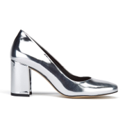 Dune Women's Acapela Metallic Court Shoes - Silver