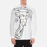 Versace Collection Men's Medusa Print Shirt - White