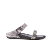 FitFlop Women's Banda Crystal Imi-Snake Slide Sandals - Mink