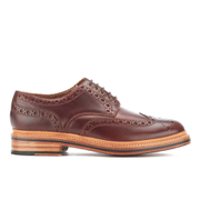 Grenson Men's Archie Pull Up Leather Brogues - Chestnut