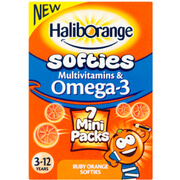 Haliborange Kids Omega 3 & Multivitamins Orange Softies Mini Packs - Pack of 7