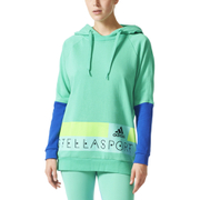 adidas Women's Stellasport Long Gym Hoody - Green/Blue