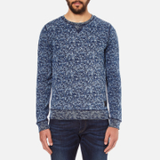 Scotch & Soda Men's Allover Print Sweatshirt - Blue