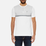 Luke 1977 Men's Clackik Zip Detail Printed T-Shirt - White