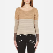 ONLY Women's Oakey Long Sleeve Jumper - Tannin
