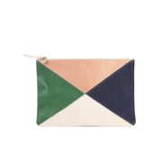 Clare V. Women's Supreme Patchwork X Flat Clutch Bag - Multi/Patchwork Six