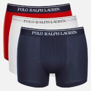 Polo Ralph Lauren Men's 3 Pack Boxer Shorts - White/Red/Blue
