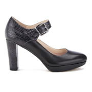 Clarks Women's Kendra Gaby Leather Mary Jane Heels - Black Combi