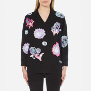KENZO Women's Embroidered Jumper - Black