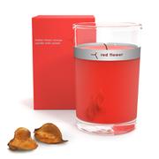 Red Flower Italian Blood Orange Petal Top Candle