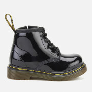 Dr. Martens Toddlers' Brooklee B Patent Lamper Leather Lace Up Boots - Black