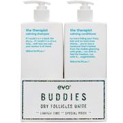 Evo Buddies 'Dry Follicles Unite' Shampoo and Conditioner Duo