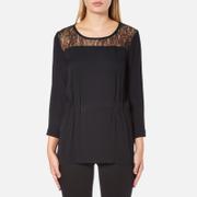 Selected Femme Women's Mussa Lace Top - Black