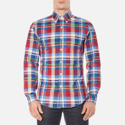 Polo Ralph Lauren Men's Long Sleeve Checked Stretch Oxford Shirt - Red/Blue