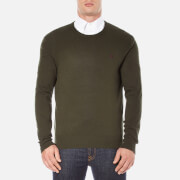 Polo Ralph Lauren Men's Crew Neck Merino Knitted Jumper - Dark Loden