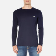 Lacoste Men's Long Sleeved Crew Neck T-Shirt - Navy Blue