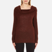 Gestuz Women's Oba Scoop Neck Detail Jumper - Burnt Henna