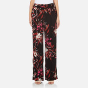 Gestuz Women's Demi Wide Leg Printed Pants - Black/Pink Flower Print