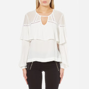 MINKPINK Women's Little Secrets Ruffle Blouse - Cream