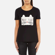 Karl Lagerfeld Women's Kocktail Choupette T-Shirt - Black