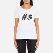 Karl Lagerfeld Womens #TeamKarl Crew Neck T-Shirt – White