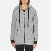 Karl Lagerfeld Women's Bonded Tweed Jersey Hoody - Grey Melange