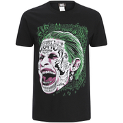 DC Comics Mens Suicide Squad Joker Head T-Shirt - Zwart