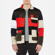 Maison Kitsuné Men's Patched Worker Jacket - Multi