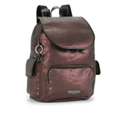 Kipling Women's City Pack Small Backpack - Plum Metal