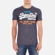 Superdry Men's Shirt Shop Tri T-Shirt - Rinse Navy Jaspe
