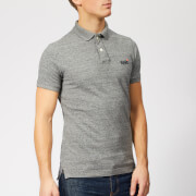 Superdry Men's Classic Pique Polo Shirt - Flint Steel Grit