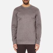 Helmut Lang Men's Embossed Jersey Sweatshirt - Grey