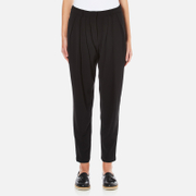 Paisie Women's Draped Boyfriend Trousers - Black
