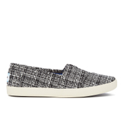 TOMS Women's Avalon Slip-On Trainers - Black/White Boucle