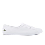 Lacoste Women's Ziane Bl 2 Canvas Plimsols - White
