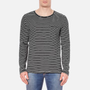 Nudie Jeans Men's Orvar Pocket Long Sleeve T-Shirt - Black/White