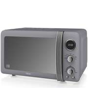 Swan SM22030GRN 800W Retro Digital Microwave - Grey