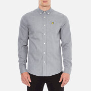 Lyle & Scott Men's Marl Flannel Long Sleeve Shirt - Mid Grey Marl